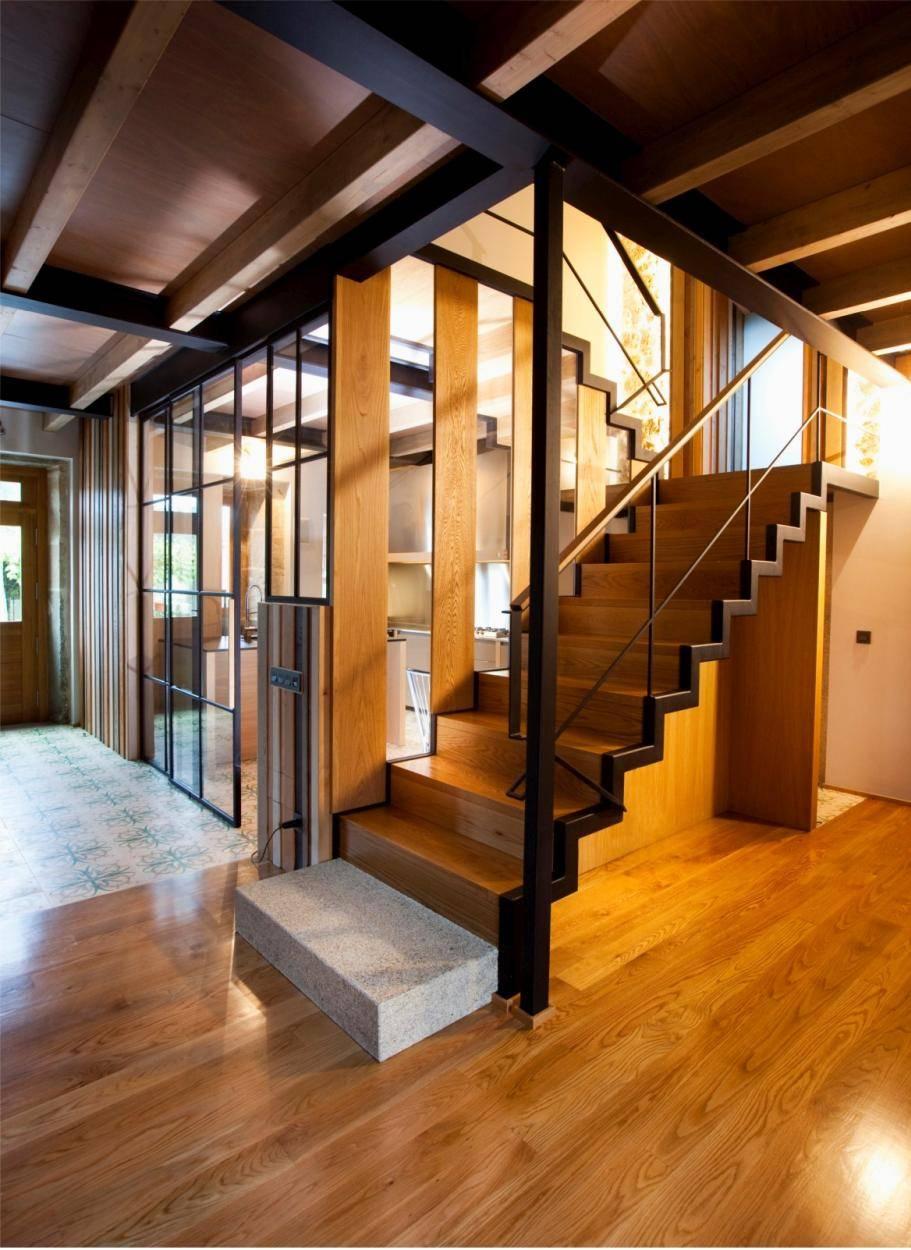 cocina reforma escaleras casa cristalera2