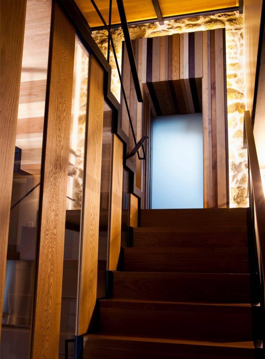 cocina reforma escaleras casa cristalera3