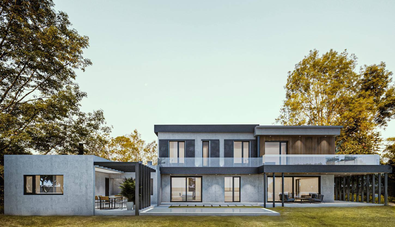 vivienda unifamiliar diseño exterior interior